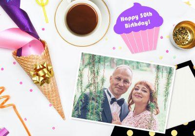 Écrire une carte de vœux pour le 50e anniversaire